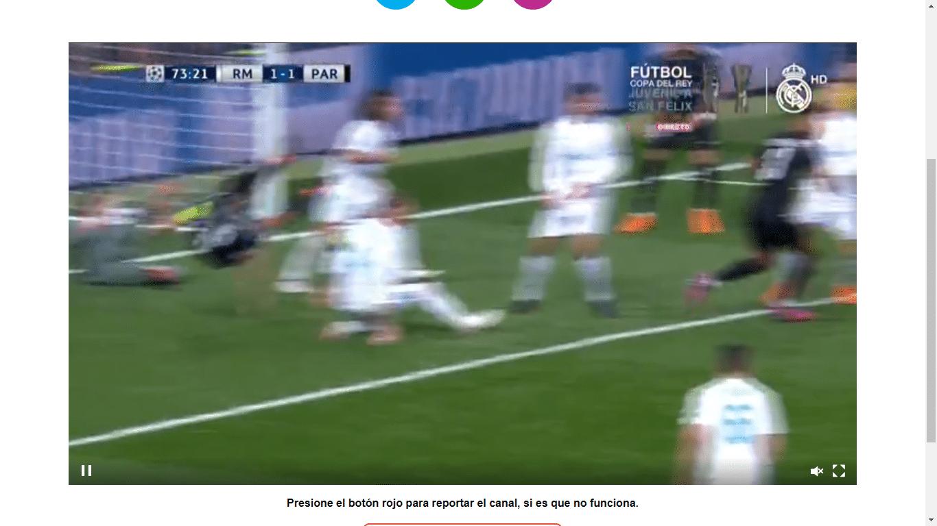 Paginas para ver Futbol en vivo - demostración